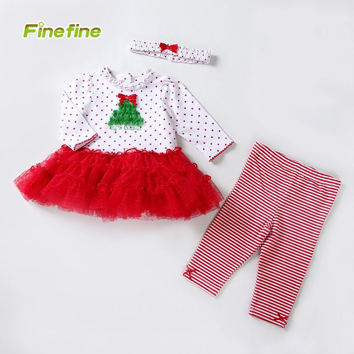 Newborn Infant Girl Christmas Baby Clothes