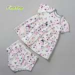 Heart Design Printed Knited Girls Baby Dress