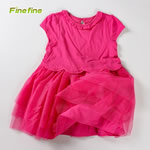 New Model Rose Plain Kids Summer Girl Dress