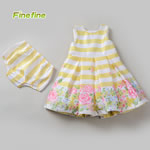 Yellow Kids Girl Floral Print Dress