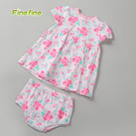 Nice Cute Flower Printed Baby Summer Dress