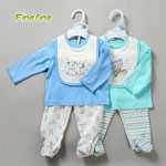 3 Pieces Spring Newborn Baby Boy Clothing