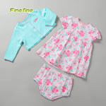 Summer Rose Flower Print Girls Baby Clothing
